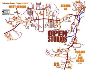 Sedona Open Studios Tour Sedona Artists Map- El Portal Sedona Hotel